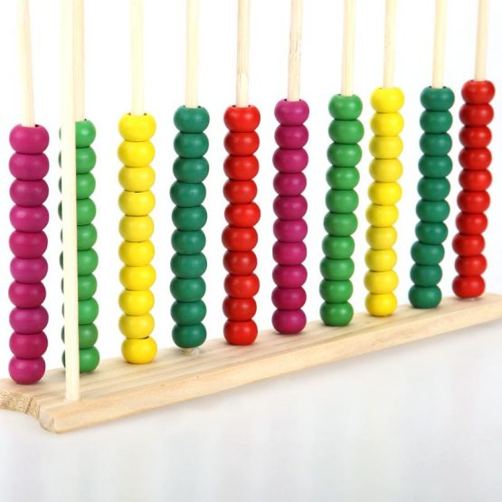 Ábaco MADERA matematicas niños colores bitcoin sostenible ecológico