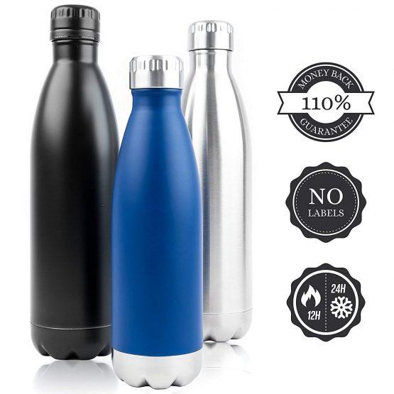 Botella METAL Colores ecológico sostenible ecoamazon natural reciclable