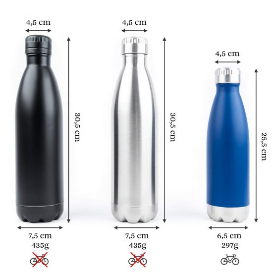 Botella METAL Colores medidas ecológico sostenible ecoamazon natural reciclable