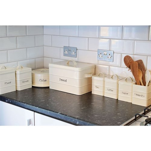 Caja Galletas METAL rectangular ecológico sostenible ecoamazon natural reciclable