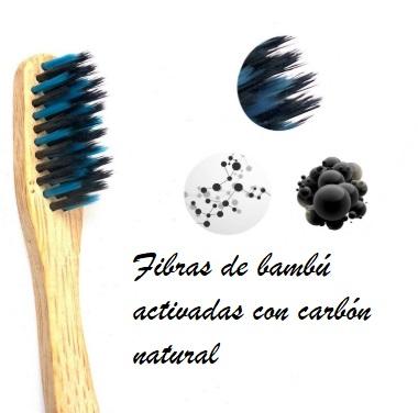 Cepillo dientes bambu fibras activadas ecológico sostenible ecoamazon natural