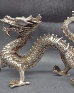 Estatua Dragón grande METAL litecoin ltc