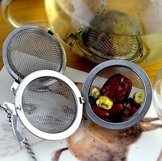 Filtro de té de acero inoxidable 2 uds ejemplo ecológico sostenible ecológico sostenible ecoamazon natural reciclable