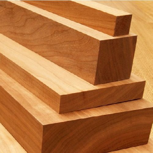 Material noble madera marrón en bloques ecológico sostenible reciclable