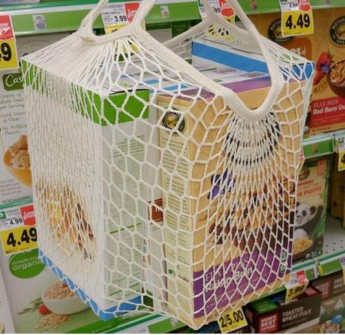Malla algodon supermercado ecológico sostenible ecoamazon natural