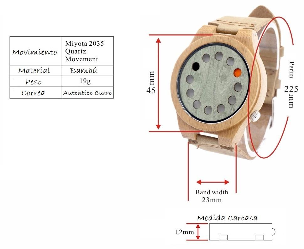 medidas reloj madera Productos EcológicosSosteniblesNaturalesReciclables yReutilizables www.ComprarSinPlastico.com