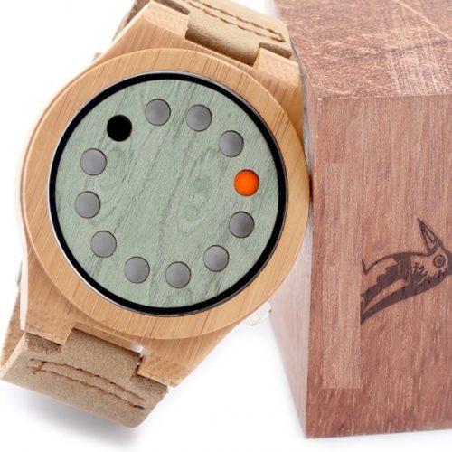 Reloj BAMBÚ y CUERO original
