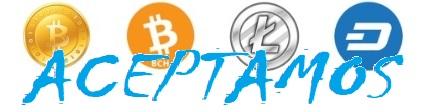 bitcoin litecoin bch cash dash ACEPTAMOS AZUL ecológico sostenibles comprar sin plástico