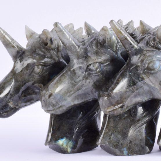 escultura unicornio cabeza completa cabeza sostenible btc