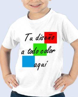 Camiseta ALGODÓN añade TU diseño camiseta niño ecológica fitslim btc moda customizable