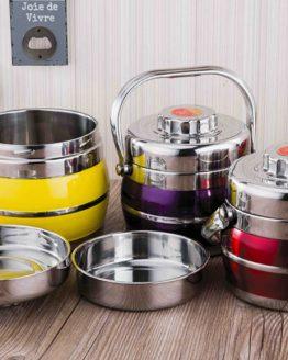 Fiambrera Alimentos Termo ACERO colección de 3 reciclable BTC sostenible