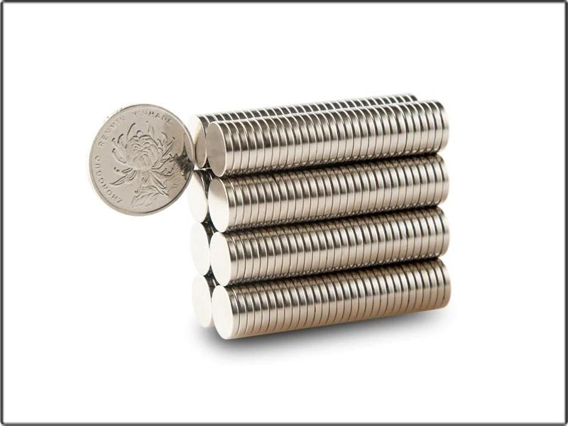 100 piezas Imán de neodimio redondo moneda