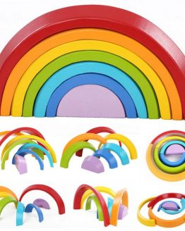 arcoiris colores sostenible montesori ecológico duradero fuerte madera