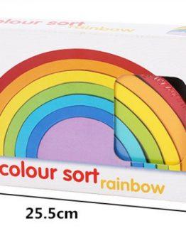 arcoíris colores sostenible montesori ecológico duradero fuerte madera medidas